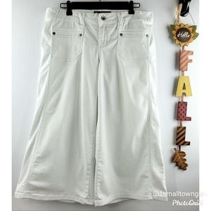 Rewind wide leg gaucho pants white 11